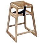 Koala Kare KB800-20-KD Woodrow Stackable Wood High Chair with Light Finish - Unassembled