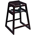 Koala Kare KB800-29-KD Woodrow Stackable Wood High Chair with Mahogany Finish - Unassembled
