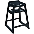 Koala Kare KB800-22-KD Woodrow Stackable Wood High Chair with Black Finish - Unassembled