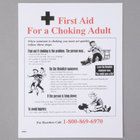 8 1/2 inch x 11 inch First Aid Choking Adult Poster with Heimlich Instructions