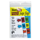 Redi-Tag 76830 5 Assorted Color Sign Here Removable Page Flag - 50/Pack