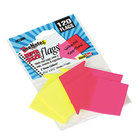 Redi-Tag 21095 SeeNotes 2 Assorted Neon Color 2 9/16 inch x 2 1/4 inch Transparent Page Flag - 120/Pack