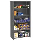 Tennsco ESPC61836MGY Medium Gray 5 Shelf Closed Commercial Steel Shelving - 36 inch x 18 inch x 75 inch