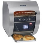 Hatco TQ3-400 Toast-Qwik Stainless Steel Conveyor Toaster with 2 inch Opening and Digital Controls - 120V, 1780W