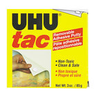 UHU 99681 Tac 3 oz. Adhesive Nontoxic Reusable Putty