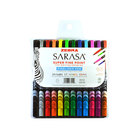 Zebra 67012 Sarasa Assorted Ink with Assorted Barrel 0.8mm Porous Point Stick Pen - 12/Set
