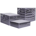 Clipper Mill by GET IRBLG-02 Bulge Silver Powder Coated Iron Rectangular Riser Set