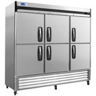 Nor-Lake NLR72-SH AdvantEDGE 78 inch Six Half Door Reach-In Refrigerator - 72 Cu. Ft.