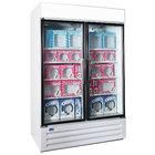 Nor-Lake NLGFP48-HG-W AdvantEDGE 52 inch White Glass Door Merchandiser Freezer - 45.7 Cu. Ft.