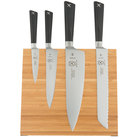 Mercer Culinary M21990BM ZÜM 5 Piece Bamboo Magnetic Board and Knife Set