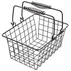 Choice Black Tabletop Market Basket - 9 inch x 7 inch x 5 inch