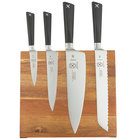 Mercer Culinary M21990AC ZÜM 5 Piece Acacia Magnetic Board and Knife Set
