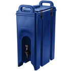 Cambro 500LCD186 Camtainers® 4.75 Gallon Navy Blue Insulated Beverage Dispenser