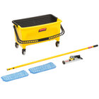 Rubbermaid Hygen 11 inch Microfiber Wet Mop Kit with Mop, Pads, and Bucket