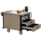 Lakeside 6755 SuzyQ Beige Slate Dining Room Meal Serving System with Two Heated Wells - 208V