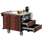 Lakeside 6755 SuzyQ Red Maple Dining Room Meal Serving System with Two Heated Wells - 208V