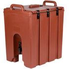 Cambro 1000LCD402 Camtainers® 11.75 Gallon Brick Red Insulated Beverage Dispenser