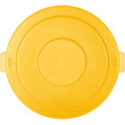 Carlisle 34105604 Bronco 55 Gallon Yellow Flat Trash Can Lid