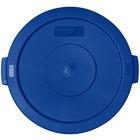 Carlisle 34102114 Bronco 20 Gallon Blue Flat Trash Can Lid