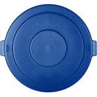 Carlisle 34105614 Bronco 55 Gallon Blue Flat Trash Can Lid