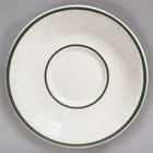 Tuxton TES-002 Emerald 6 inch Green Speckle Narrow Rim China Saucer - 36/Case
