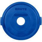 Rubbermaid 1788376 BRUTE Blue 32 Gallon Recycling Lid with Hole