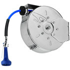 T&S B-7122-C08M 30' Enclosed Stainless Steel Hose Reel with B-0108 JeTSpray Spray Valve