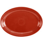 Homer Laughlin 456326 Fiesta Scarlet 9 5/8 inch x 6 7/8 inch Oval Small China Platter - 12/Case