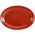 Homer Laughlin 456326 Fiesta Scarlet 9 5/8 inch Small Oval Platter   - 12/Case
