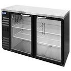 Nor-Lake NLBB60NG 60 1/8 inch Black Glass Door Narrow Back Bar Refrigerator