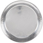 American Metalcraft HMRST2001 20 inch Round Hammered Stainless Steel Tray