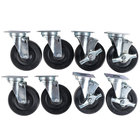 Vulcan CASTERS-RR8 Equivalent 5 inch Swivel Plate Casters - 8/Set