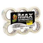 Duck Tape 241513 MAX 1 7/8 inch x 54 5/8 Yards Clear Packaging Tape - 6/Pack