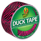 Duck Tape 280338 1 7/8 inch x 10 Yards Colored Pink Zebra Duct Tape