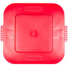 Rubbermaid FG352700RED BRUTE 28 Gallon Square Red Lid