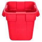 Rubbermaid FG352600RED BRUTE 28 Gallon Square Red Trash Can