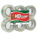 Duck Tape 299016 1 7/8 inch x 110 Yards Clear Heavy-Duty Carton Packaging Tape - 6/Pack