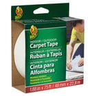Duck Tape 442062 1 7/8 inch x 25 Yards Clear Carpet Tape