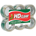 Duck Tape CS556PK 1 7/8 inch x 55 Yards Clear Heavy-Duty Carton Packaging Tape - 6/Pack