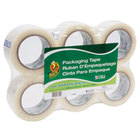 Duck Tape 240054 1 7/8 inch x 109 Yards Clear Commercial Grade Packaging Tape - 6/Pack