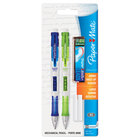 Paper Mate 1759214 Lime Green and Royal Blue Barrel 0.9mm Clear Point HB Lead #2 Mechanical Pencil - 2/Set