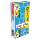 Paper Mate 1951348 InkJoy 100 Black Ink with Black Barrel 1mm Stylus / Capped Ballpoint Pen - 12/Pack
