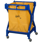 Lavex Lodging 10 Bushel Commercial Rolling Laundry / Trash Cart