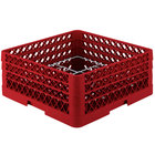 Vollrath PM1211-3-02 Traex® Plate Crate Red 12 Compartment Plate Rack - Holds 5 inch to 7 5/8 inch Plates