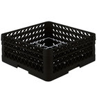 Vollrath PM1211-3-06 Traex® Plate Crate Black 12 Compartment Plate Rack - Holds 5 inch to 7 5/8 inch Plates