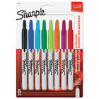 Sharpie 32730PP Assorted Colors Fine Point Retractable Permanent Marker - 8/Set