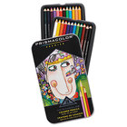 Prismacolor 3597THT Premier 24-Color Assorted Woodcase Barrel 3mm Soft Lead Colored Pencil Set - 24/Set