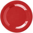 Carlisle 3301205 Sierrus 9 inch Red Wide Rim Melamine Plate - 24/Case