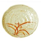 Thunder Group 1806 Gold Orchid 6 inch Lotus Shaped Melamine Plate - 12/Pack