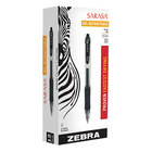 Zebra 46610 Sarasa Black Ink with Transparent Black Barrel 1mm Retractable Gel Pen - 12/Pack